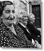 Village Women In Alberca Spain Metal Print