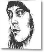 Ville Valo Portrait Metal Print by Alexandra-Emily Kokova