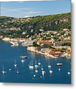 Villefranche-sur-mer And Cap De Nice On French Riviera Metal Print