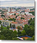 Vilnius Panorama From The Hill Of Three Crosses Metal Print