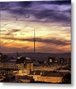 Vilnius Tv Tower Metal Print