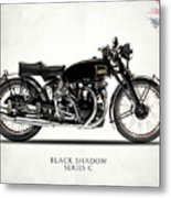 Vincent Black Shadow Metal Print