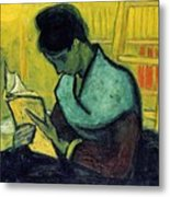 Vincent Van Gogh  A Novel Reader Metal Print