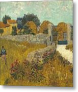Vincent Van Gogh, Farmhouse In Provence Metal Print