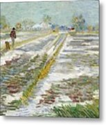 Vincent Van Gogh, Landscape With Snow Metal Print