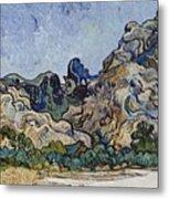 Vincent Van Gogh  Mountains At Saint Remy Metal Print