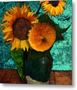 Vincent's Sunflowers 2 Metal Print