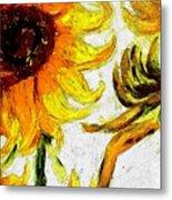 Vincent's Sunflowers  Metal Print