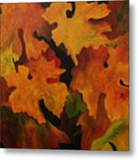 Vine Leaves Metal Print