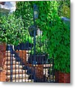 Vines Over Gate Metal Print