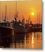 Vineyard Haven Harbor Sunrise II Metal Print