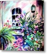 Vineyard Patio Metal Print