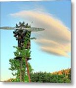 Vineyard Propeller Metal Print