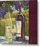 Vineyard Wine Tasting Collage II Metal Print