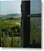 Vineyards Of Chianti Viewed Metal Print by Todd Gipstein
