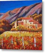vineyards of Provence Metal Print
