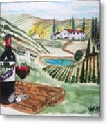 Vineyards Of Tuscany  Metal Print