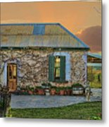 Vino Cottage Metal Print
