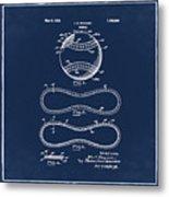 Vintage 1928 Baseball Patent Blue Metal Print