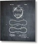 Vintage 1928 Baseball Patent Chalk Metal Print