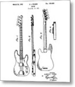 Vintage 1953 Fender Base Metal Print