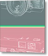 Vintage 35mm Film Camera Pop Art Totem Metal Print