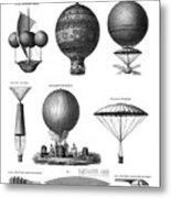 Vintage Aeronautics - Early Balloon Designs Metal Print