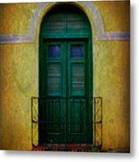 Vintage Arched Door Metal Print