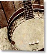 Vintage Banjo Barn Dance Metal Print