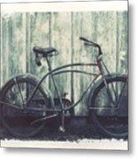 Vintage Bike Polaroid Transfer Metal Print by Jane Linders