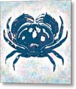 Vintage Blue Crab Metal Print