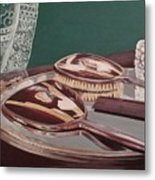 Vintage Brush And Comb Set Metal Print by Kathy Weidner