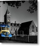 Vintage Bus At Taunton School Metal Print