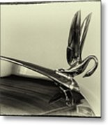 Vintage Cadilac 62, Hood Ornament Metal Print