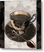 Vintage Cafe Iv Metal Print