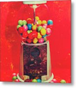Vintage Candy Store Gum Ball Machine Metal Print