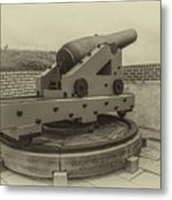 Vintage Cannon At Fort Moultrie Metal Print
