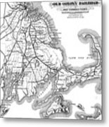 Vintage Cape Cod Old Colony Railroad Map Metal Print