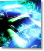 Vintage Car 20 Neons Edition  Metal Print