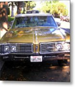 Vintage Car. Front View Metal Print