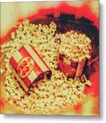 Vintage Carnival Snack Booth Metal Print