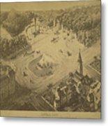 Vintage Central Park Entrance Illusration - 1865 Metal Print