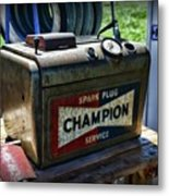 Vintage Champion Spark Plug Cleaner Metal Print