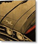 Vintage Chevrolet Chevelle Hood Metal Print