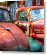 Vintage Chevy Trucks Metal Print