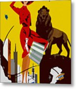 Vintage Chicago Travel Poster Metal Print