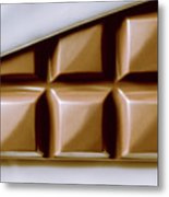 Vintage Chocolate Block Macro Metal Print