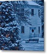 Vintage Christmas Church In Vermont Metal Print