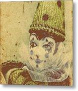 Vintage Circus Postcard Metal Print