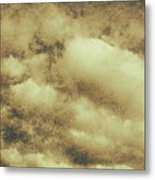 Vintage Cloudy Sky. Old Day Background Metal Print